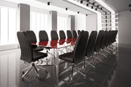 commercial cleaning of boardroom